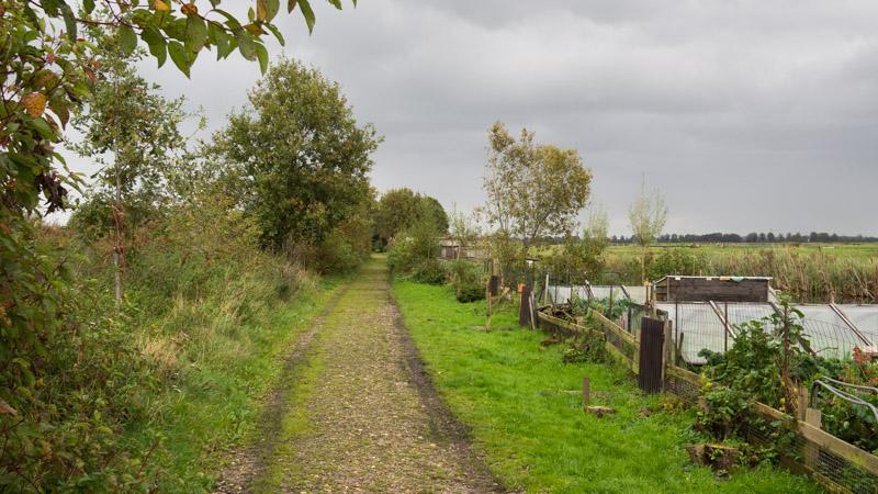 Pad waar oude spoorlijn liep